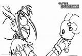 Glitter Force Coloring Screaming Printable sketch template