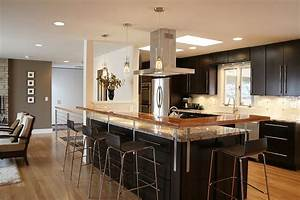 Open kitchen floor plans with islands home design and for Open floor plan kitchen design ideas