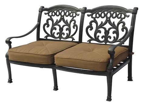 patio furniture cast aluminum seating seat valencia