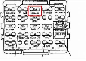1994 Chevy Astro Van Fuse Diagram