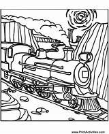 Coloring Train Steam Locomotive Trains Colouring Printable Engine Drawing Boy Clipart Construction Colour Quilts Clip Tracks Printactivities Track Printables Sheets sketch template