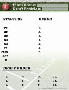 Nfl Depth Charts Printable Freebie Friday Football Roster Free Printable