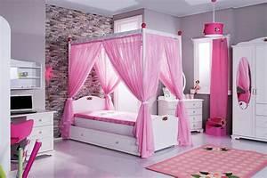 Vorhang Für Bett : cindy himmelbett rosa kinderbett mit himmel bett m dchen ~ Whattoseeinmadrid.com Haus und Dekorationen