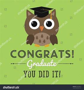 Congrats Graduate You Did It Graduation Stock Vector ...