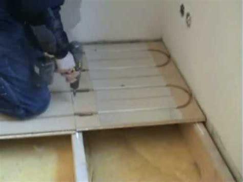 lk wood  underfloor heating install demo youtube