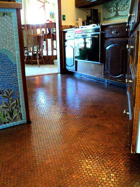 kitchen floor made of pennies hometalk floors 8070
