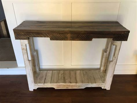 rustic pallet sofa table  pallets