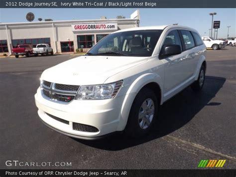 2012 Dodge Journey Se by Ivory White Tri Coat 2012 Dodge Journey Se Black Light