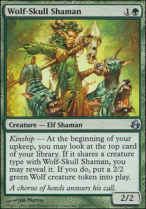 Green White Token Deck Tapped Out by Wolf Skull Shaman Mor Mtg Card