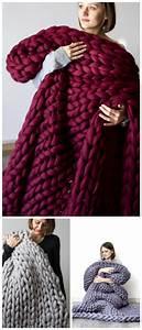 Chunky Wolle Decke : kuschelige gestrickte decke aus xxl wolle ~ Watch28wear.com Haus und Dekorationen