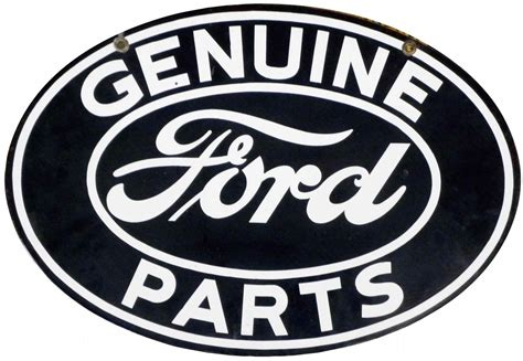 genuine ford parts porcelain sign