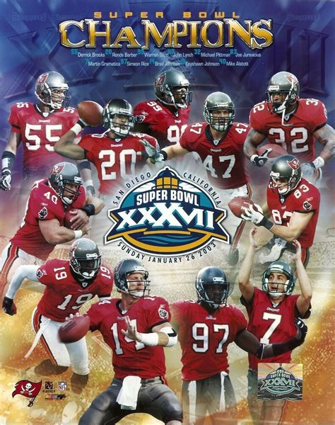 Tampa Bay Buccaneers 8x10 Bucs Team Photo Super Bowl