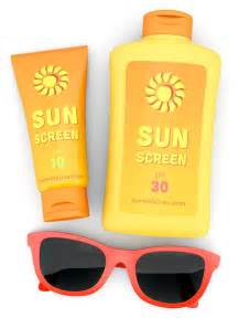 Sunscreen and Sunglasses