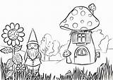 Coloring Garden Gnome Pages Printable Fairy Adults Clip Gardening Colouring Mushroom Bff Gnomes Sheets Rocks Adult Drawing Printables Preschool Flowers sketch template