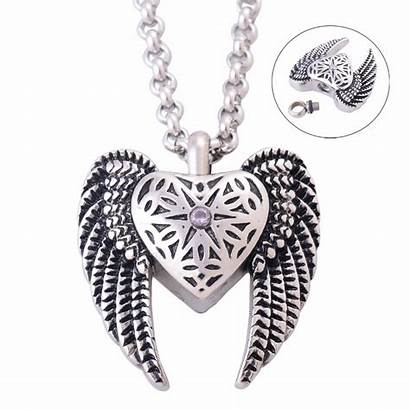Urns Ashes Cremation Jewelry Necklace Angel Pendant
