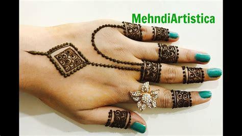 Diy Jewelry Designer Finger Mehndi Designs easy Simple