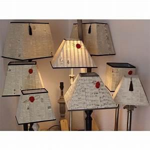 Abat Jour Original : abat jour carr pliss l 39 atelier des abat jour ~ Melissatoandfro.com Idées de Décoration