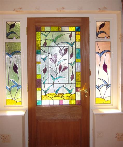 stained glass l extraordinary stained glass door panel front doors