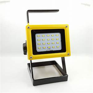 Emergency battery flood lights : W rechargeable emergency led spot flood light spotlight
