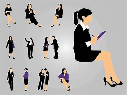 Working Silhouettes Female Clipart Vectors Ladies Career