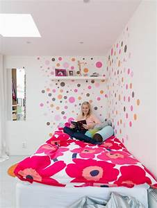 Chambre ado fille en 65 idees de decoration en couleurs for Decoration murale chambre ado