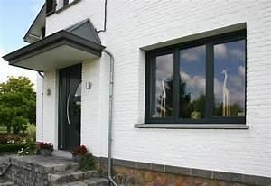 Facade Maison Grise : facade maison grise et blanche do deco pod de maison ~ Melissatoandfro.com Idées de Décoration