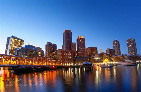 Photograph Boston Harbor At Night By Steinway Wu On 500px