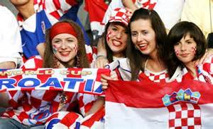 Croatia Fans Pose Before The Group World Cup Soccer