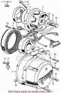 Honda Cb750 Four K4 Usa Alternator