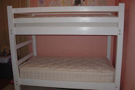 simple bunk bed plans bed plans diy blueprints