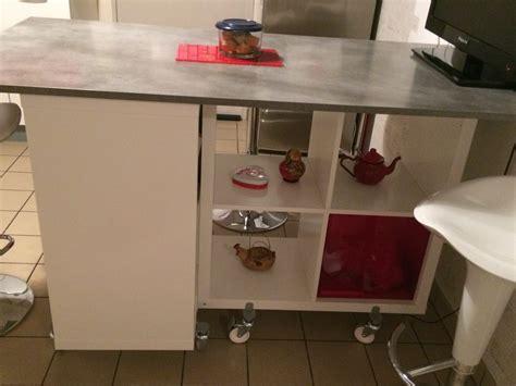 table de cuisine ikea table îlot de la cuisine de corine avec kallax