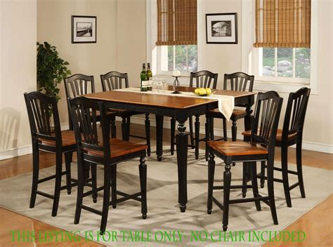 black square kitchen table square dining dinette kitchen counter height table black