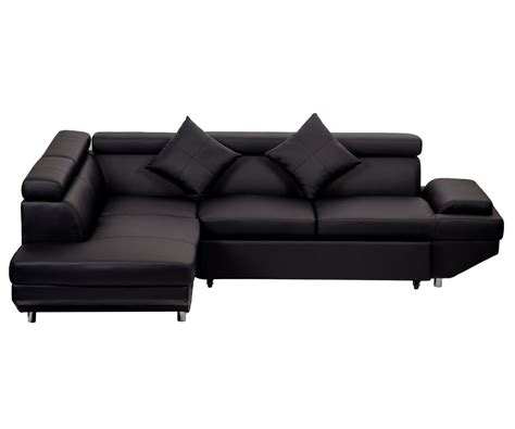 modern contemporary leather sectional corner sofa bed