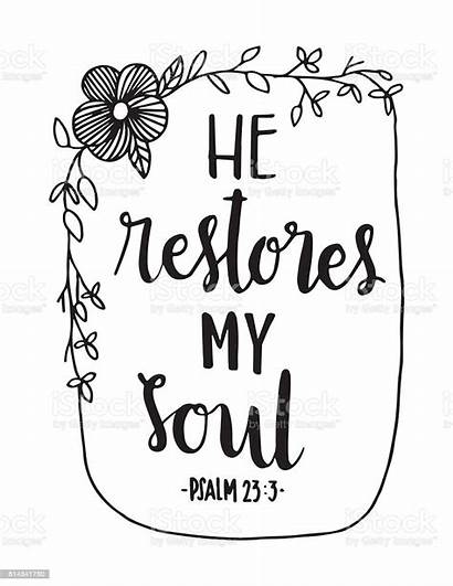 Bible Quote Vector Soul Illustration He Christian