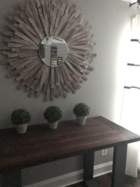 sunburst mirror diy cheap  creative wall art  wood