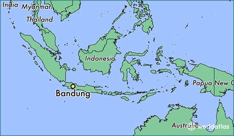 bandung indonesia bandung west java map