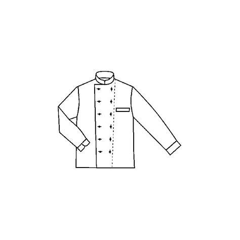 tablier de cuisine blanc veste chef bordeaux coton et trevira facile à entretenir