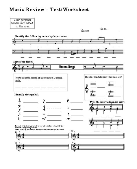 No guarantees, but i'm 94% sure i can guess your personality based on the baby boomer playlist you make. Free Sheet Music Downloads - Test Materials - Music Education Worksheets