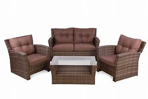 Rattan Lounge Set : outside edge garden furniture blog rattan 4 seater sofa set for outdoor with reclining lounge ~ Orissabook.com Haus und Dekorationen
