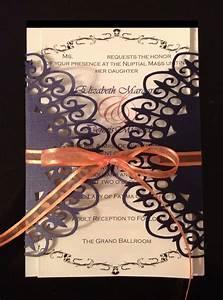 wedding invitation lace wrap invitation purple and With wedding invitations with cricut explore
