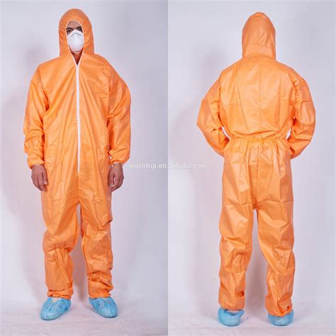 design orange disposable hazmat suit  safety