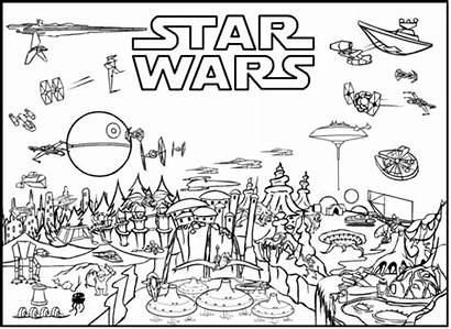 Lego Coloring Wars Star Pages Sheet