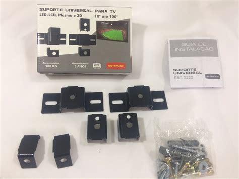 O suporte para tv de parede é articulado, compatível com modelos de tvs de 14 a 42 de lcd/led/plasma, com capacidade de carga de até 35kg. Suporte Tv Painel De Parede Smart Tv Led Plasma Universal - R$ 35,37 em Mercado Livre
