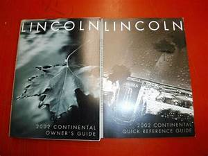 2002 Lincoln Continental Original Factory Owners Manual