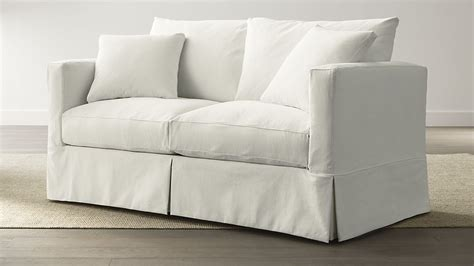 crate and barrel apartment sofa slipcover only for willow apartment sofa deso snow