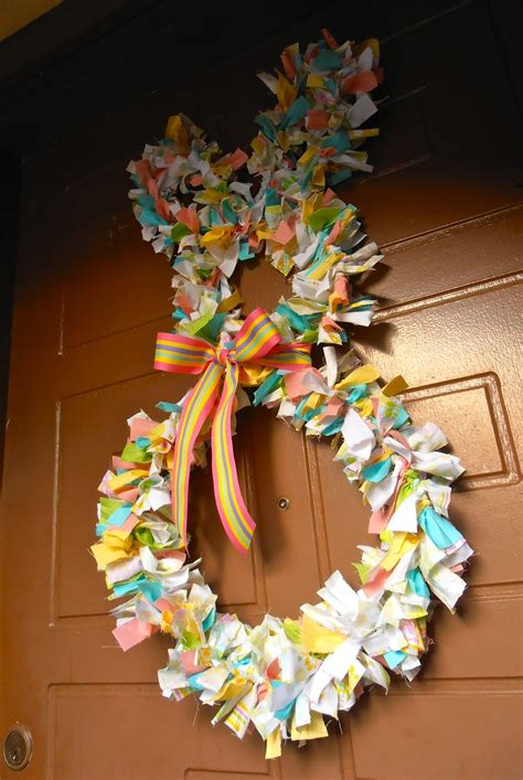 easter door wreaths giggleberry creations fabric scrap easter bunny wreath diy