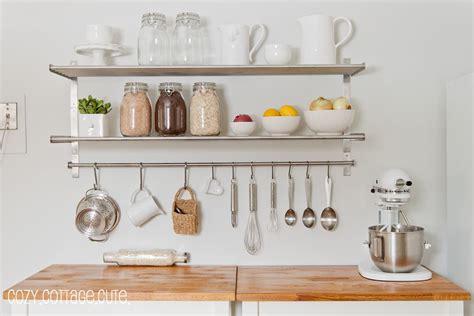 kitchen organization ikea grundtal wall shelves rails