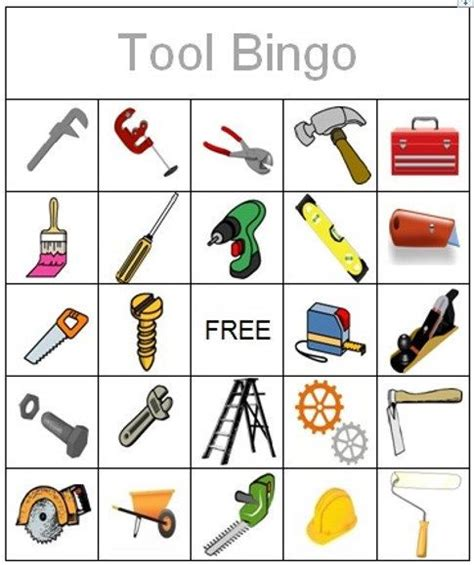 tool bingo instant printable by 657 | fd180deb9522a46e31b11a36b298dc64 construction bingo my etsy shop
