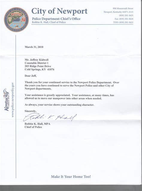 Letter Recommendation Letter Police Officer