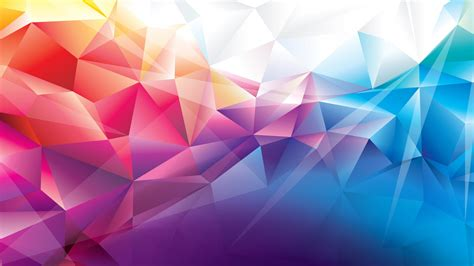 wallpaper polygon  hd wallpaper orange red blue